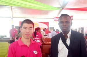 Jason and Sam @ the Lagos International Trade Fair