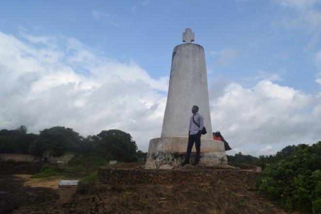 At the Vasco Da Gama Pillar, Malindi, Kenya
