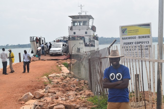 At the ferry loading and boarding site, Entebbe, Uganda