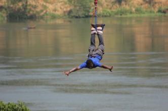 Bungee Jumping at Jinja, Uganda