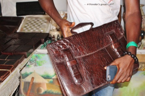 Crocodile Skin Bag at Lekki Crafts Market