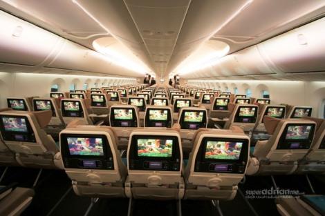 Ethiad dreamliner cabin