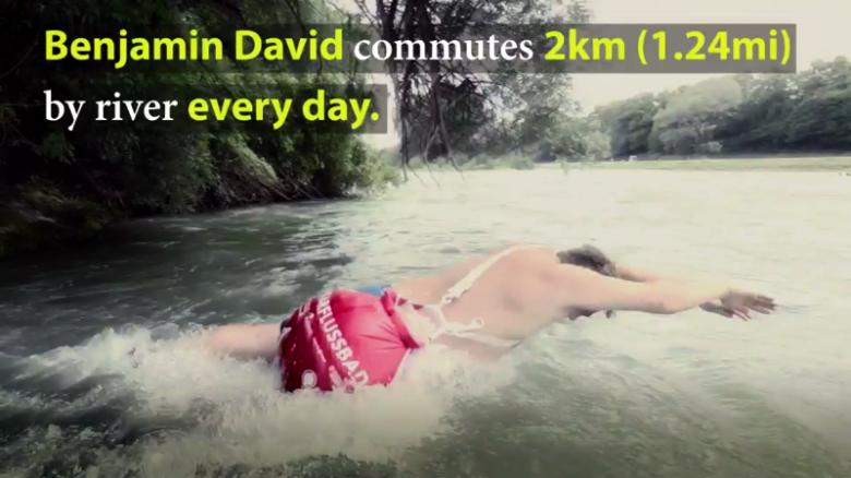 Swim to work