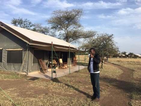 Tented Wildlife Lodge within Serengeti