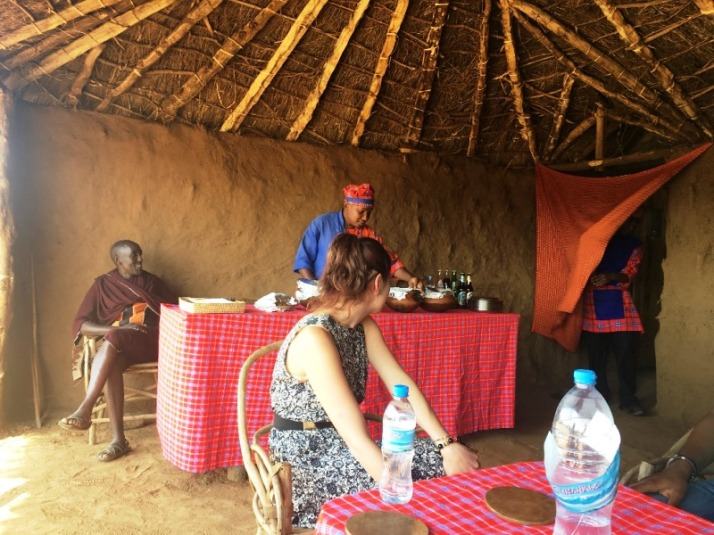 8 Maasai dining shed - waiting to be served food