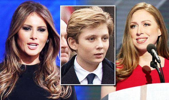 Melania-Trump-Barron-Trump-and-Chelsea-Clinton-844732
