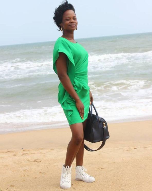 Olajumoke at Badagry beach