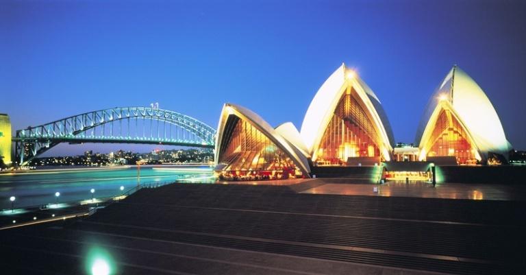 Night scene, Opera House & Harbour Bridge
