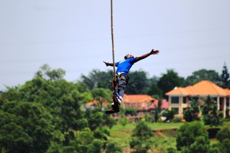 sam adeleke bungee jump jinja uganda