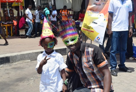 Sam Adeleke with Lagos boy at Carnival