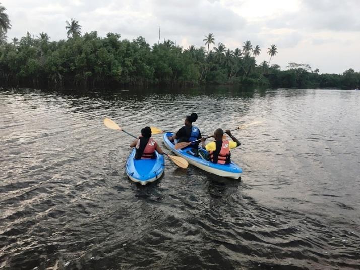 Sam Adeleke - Kayaking at La Campagne Tropicana