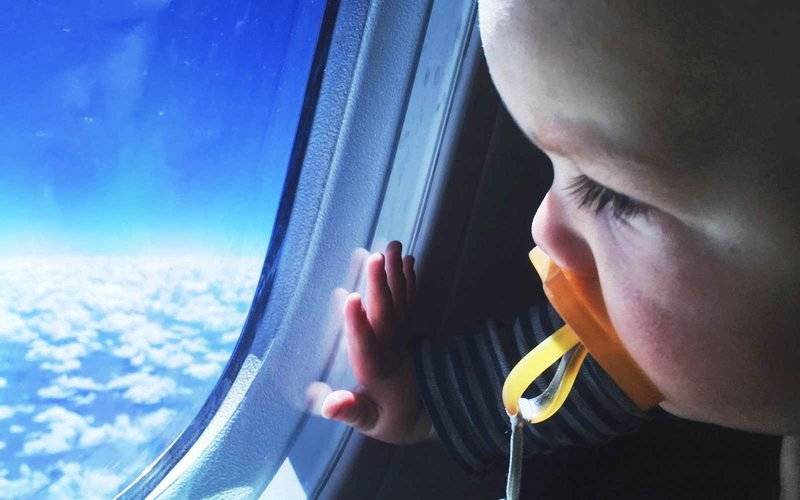 baby in the plane